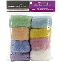 Dimensions Crafts 72-74003 Pastel Wool Roving for Needle Felting, 8-Pack