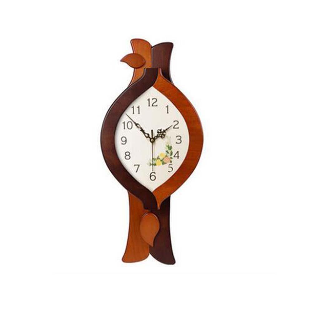 Cai 置き時計掛け時計-モダンサイレント中国木製スイングウォールクロックリビングルームベッドルームシンプルなクリエイティブクォーツウォールクロック(スタイルオプション) ( 色 : 3 ) B07C5HHGB7 3 3