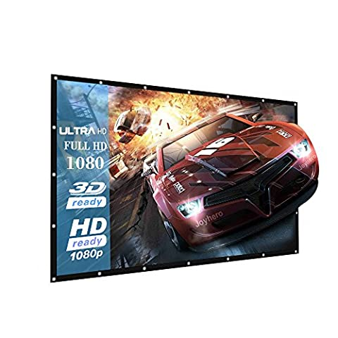 120-Inch outdoor Projector Screen Home Theater/Cinema or Presentation Platform - 16:9 Portable Projector Screen - Suitable for HDTV/Sports/Movies/Presentations (120 (Projector With Projector Screen)