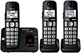 Panasonic KX-TGE433B Cordless Phone with Answering Machine- 3 Handsets