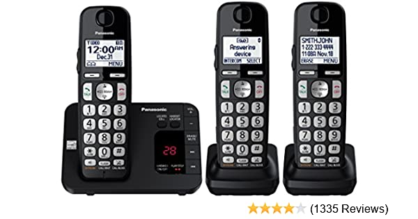 amazon com panasonic dect 6 0 expandable cordless phone system rh amazon com Panasonic Bluetooth 6.0 Plus Manual Panasonic 6.0 Plus Answering Machine Manual