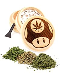 Gain Mushroom Engraved Premium Natural Wooden Grinder Item # PW91316-11 offer