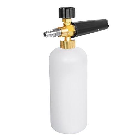 MZQLight Dispensador de jabón ajustable de espuma para pistola de cañón de nieve, con conector