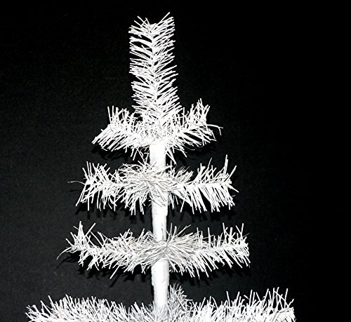 48'' Classic White Tinsel Feather Tree Tabletop Christmas Retail Tree by Lee Display (Image #1)