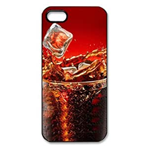 Cool Ice Cola Drink Funny Fashion Red Hard Plastic Cover Case for Iphone 5 5s
