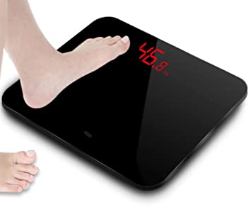 Original A3 Electronic Smart Bathroom Digital Body Weighing Scale Basculas De Peso Corporal Black HD LED