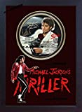 S&E DESING Michael Jackson PHOTO & Thriller CD Disc SIGNED Presentation Display Framed