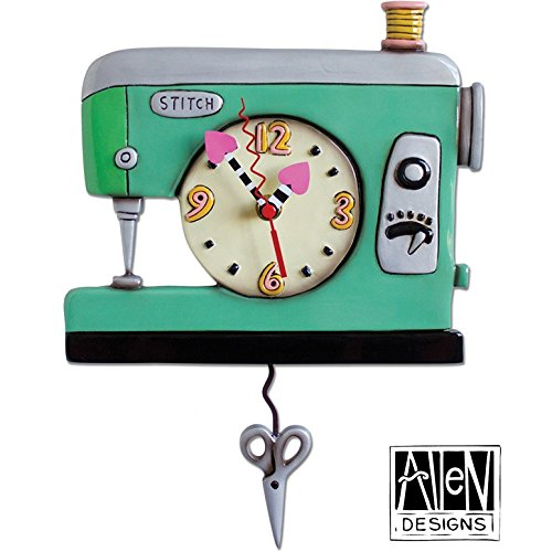 Allen Designs Studios アレンデザイン 振り子時計 掛け時計 「ミシン ソーイング」 P1312 [並行輸入品] B01CTUHFE2