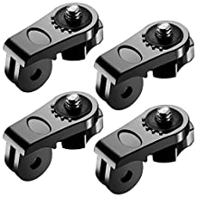 Neewer® Universal Conversion Adapter (1/4 Inch 20) Mini Tripod Screw Mount Fixing GoPro Accessories to Sony Olympus and Other Action Cameras(4 Pack)