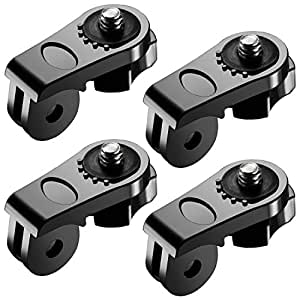 Neewer Universal Conversion Adapter (1/4 Inch 20) Mini Tripod Screw Mount Fixing GoPro 7 GoPro Accessories to Sony Olympus and Other Action Cameras(4 Pack)