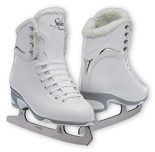 Jackson JS 180 SoftSkate Adult Figure Ice Skates (Fleece, 7)