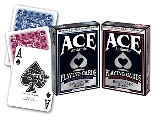 Amazon.com: ACE Casino Plastic Playing Cards - 2 Decks: Toys ...