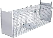 VIVOHOME Collapsible Double Doors Live Animal Cage Trap for Racoons Cats Squirrels Opossum Ground Hog 36 x 10