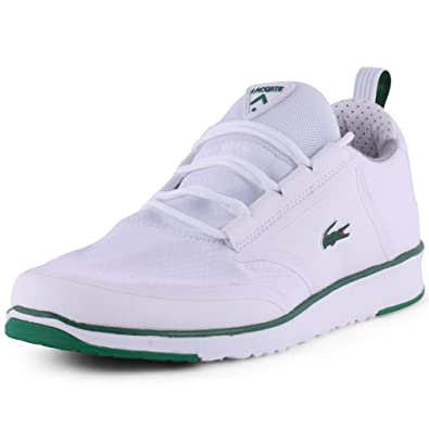 Lacoste L.Ight Lt12 Mens Textile Trainers White Green - 8 UK