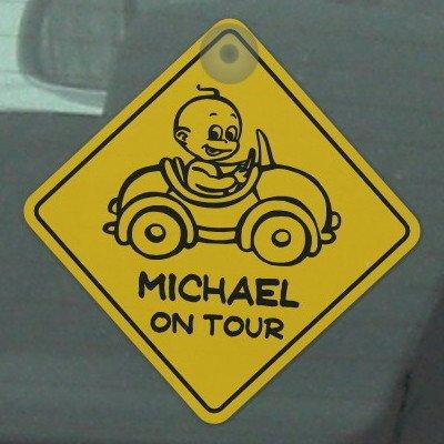 Motiv 2 Road Sign Baby Schild mit Saugnapf