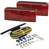 Blazer C6285 Rectangular Low Profile Submersible Trailer Light Kit - Red (Automotive)