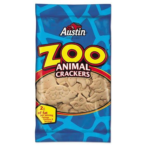 Crackers Austin Zoo - Austin Zoo Animal Crackers, Original, 2oz Pack, 80/Box