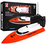 Remote Control Boat, 2.4GHz Remote Control Boat for Pool and Lakes, Electric RC Boat 180 Degree Auto Flip Recovery, High Speed Remote Boat Toys for Boys & Girls - Best Gifts for Adults & Kids