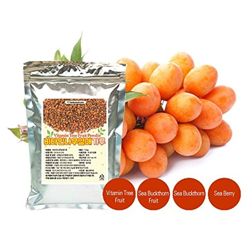 [Jeongwoodang]Sea Buckthorn Vitamin Tree Fruit Powder 10.6oz/1000 times higher vitamin C than Apple/Vitamin/비타민나무/糤子