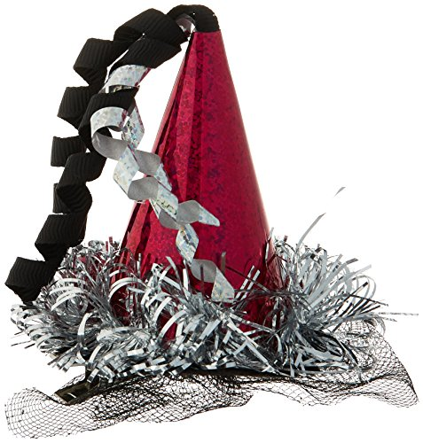 Amscan Happy New Year Hair Clip Cone Hat | Party Accessory ()