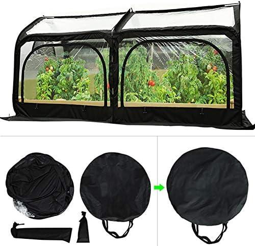 ミニ温室 透明PVC折り畳み式温室カバー、防水ガーデン温室テント付き