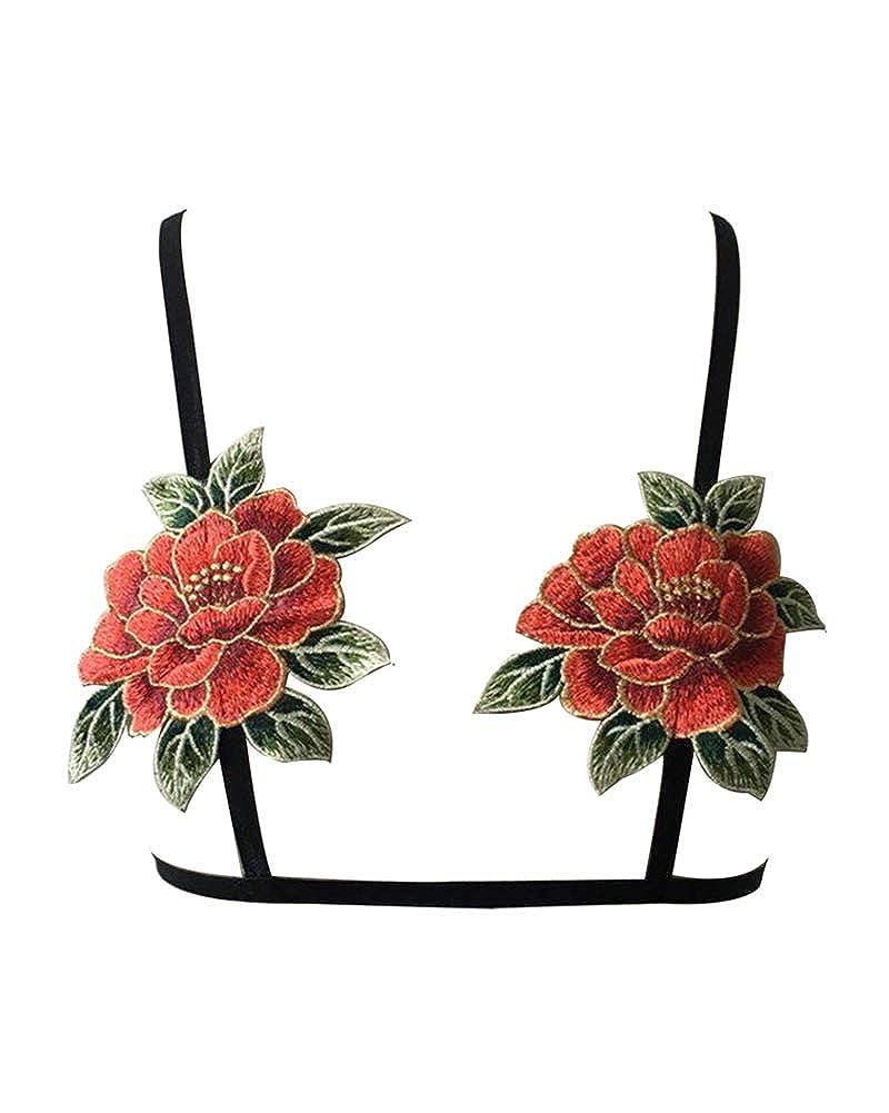 ShiFan Bordados Florales Ropa Interior De Mujer Intimissimi Sujetador Sin Aros: Amazon.es: Ropa y accesorios