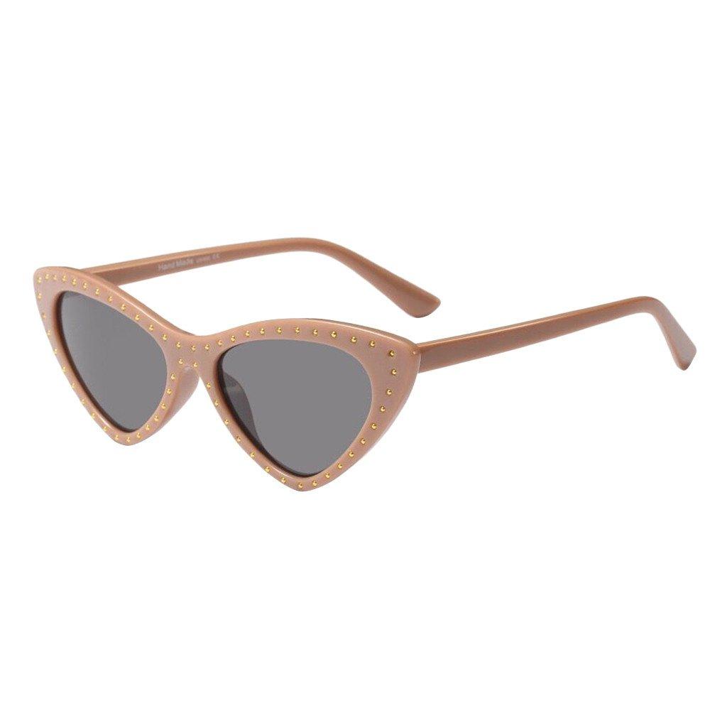 POHOK Retro Vintage Clout Cat Eye Unisex Sunglasses Rapper Grunge Glasses Eyewear