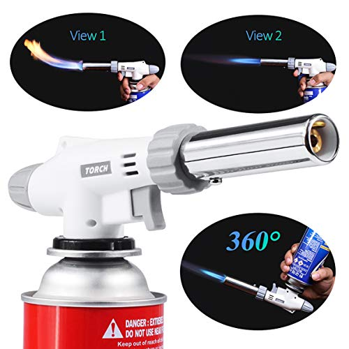 Winmoom cooking kitchen torch Adjustable Flame Lighter with 360 Degree Inverted (Butane not included) by Winmoom