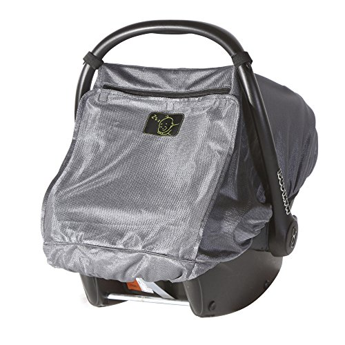 Snoozeshade Infant Carriers Deluxe Breathable Mesh Infant Car Seat Sunshade and Canopy - Silver Universal Canopy
