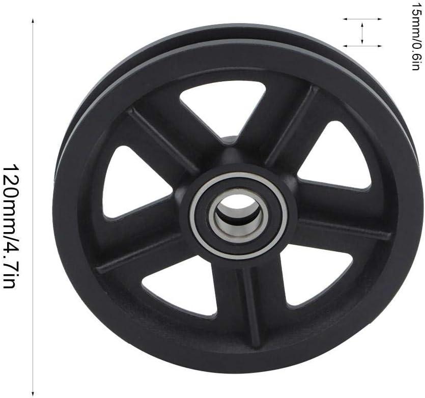 Duokon Haushalt Schiebet/ür Scheunentor Hardware Kleiderb/ügel 2pcs Black Carbon Steel Roller Kit
