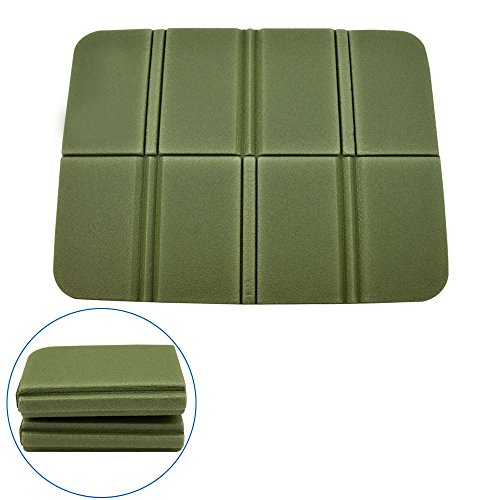 EVA Foam Cushion Seat Pads , Blu7ive 2 Pcs a Set Portable Folding Waterproof Mat Seat for Outdoor Sport Camping Picnic(green upgrade-2pc)