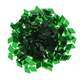 MagiDeal Wholesale Lot Glass Pieces Mosaic Tiles Tessera for DIY Arts Crafts Home Decoration Various Shape Size Color to Choose - green, 10mm x 10mm rhombus