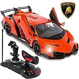 Best Choice Products 1/14 Scale RC Lamborghini Veneno Gravity Sensor Remote Control Car Orange
