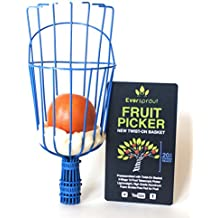 EVERSPROUT Twist-On Fruit Picker Basket | Twists onto Standard US Threaded Pole (3/4'' ACME) | Patent-pending, Fruit Harvester Attachment (Head Only, Pole Not Included)