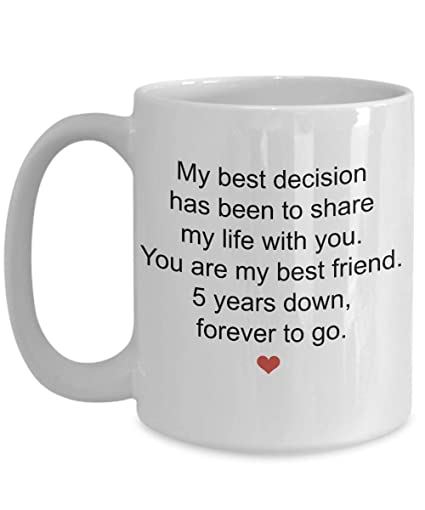 8fb59b610d10 Image Unavailable. Image not available for. Color  5th Year Wedding  Anniversary Gifts for Him or Her ...