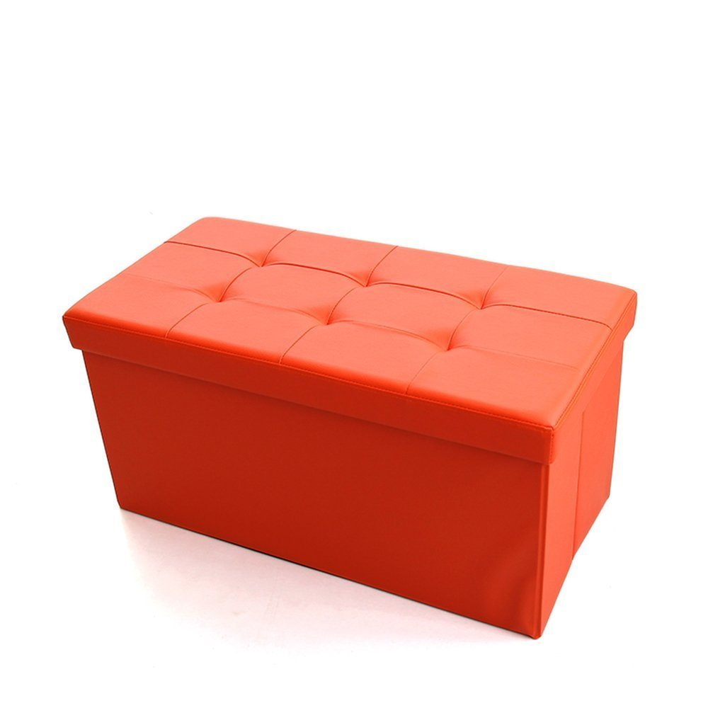 DIDIDD Sofa stool- multi-function storage stool rectangular pu stool the storage box can sit on a stool sofa for shoe stool storage stool (4 colors optional) (76 38 38cm) --storage stool,A