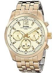 Armitron Mens 20/4991CHGP Multi-Function Gold-Tone Bracelet Watch