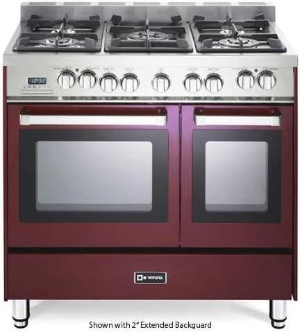 Amazon Com 36 Dual Fuel Double Oven Range Convection Oven Finish Burgundy Appliances