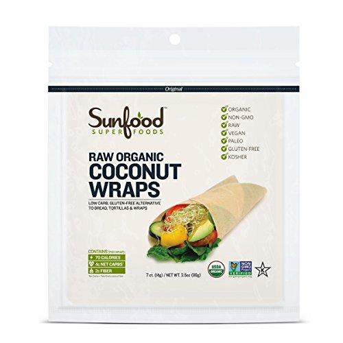 Sunfood Coconut Wraps, Organic, 7 Count