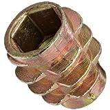 E-Z Lok Threaded Insert, Zinc, Hex-Flush, M6-1.0 Internal Threads, 13mm Length (Pack of 50)