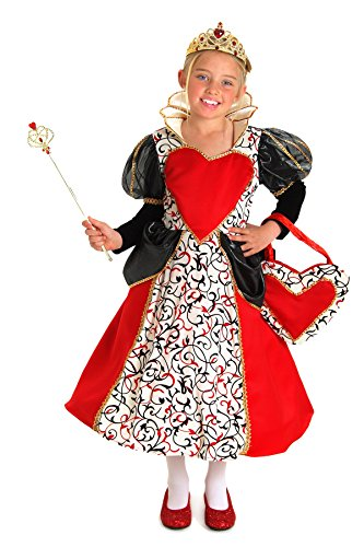 Of In King Costumes Wonderland Alice Hearts (Princess Paradise Queen Charlotte Costume,)