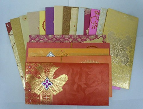 Wedding Gift Envelope Designs : Lightahead GIFT ENVELOPE CARD MONEY HOLDER FANCY PACKET FOR WEDDING ...