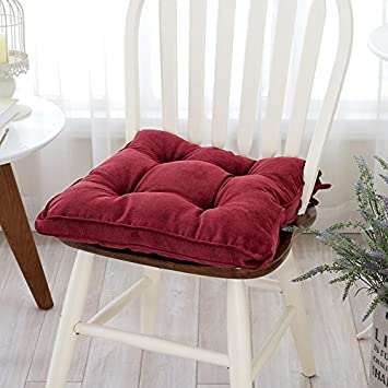 amazon com mangogo 17 x17 square corduroy pearl cotton chair