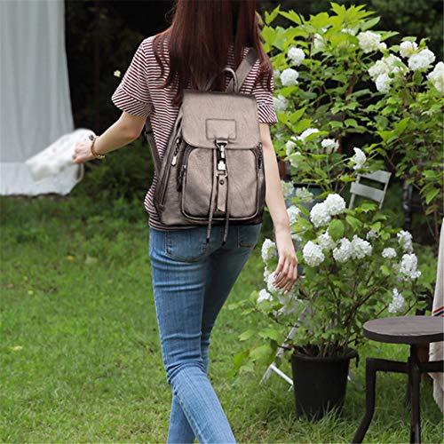 De Black Para Backpacks Bolso En Capacidad Bandolera Mochilas Mochila Viaje Niñas Winered Mujer Gran Piel wq7gIOxd