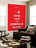 Sink Cup Wall Mural 48 x 72in
