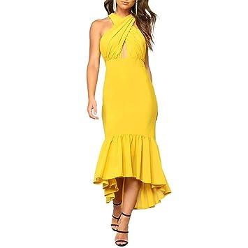 Vestidos de fiesta de las mujeres, LILICAT® Summer sin mangas irregular del hombro Vestido