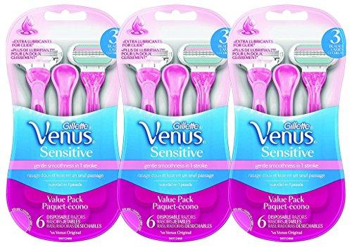 Gillette Venus Embrace Disposable Women's Razor mBgep, 3Pack (6 Count) Sensitive by Gillette Venus