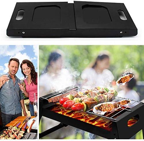 Barbecue de Plein air Portable - Barbecue de Charbon de Bois de Camping Pliable pour Garden Party 3-6 Personnes réunion de Famille