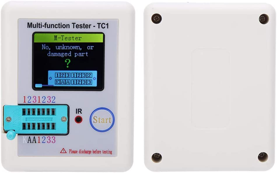 With Self‑calibration Function for Detect NPN Detect PNP Transistor Transistor Tester Durable Convenient Reading Strong Tester