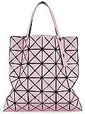 Aeoss Variety Folding Shoulder Handbag Leather Geometry Lingge Laser (PINK)